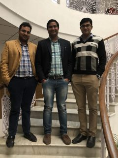 Dr. Amit and his associates in the lobby