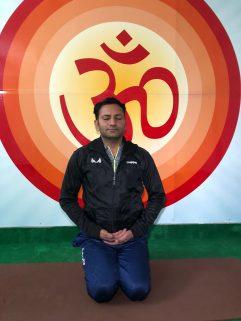 Ritesh the in-house yoga guru