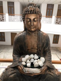 Buddha statue in the lobby